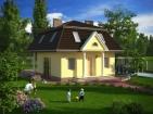 Проект уютного дома с мансардой и цоколем